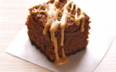 Brownies al Burro di Arachidi con Fior di Sale all'Aceto Balsamico