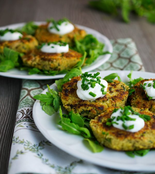 Couscous Patties with Organic Balsamic Vinegar