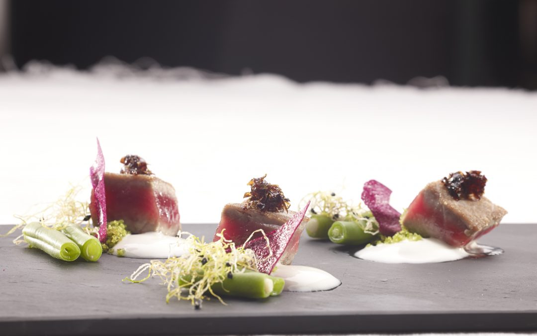 Tuna Tataki with Balsamic Vinegar jelly
