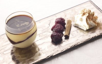 Cold Zabaione with cherries and Balsamic Vinegar