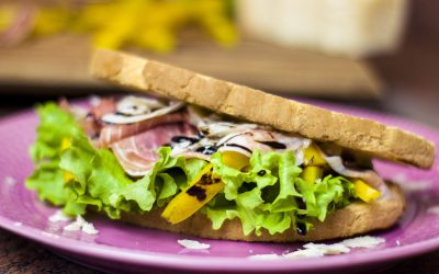 Bully Sandwich with Bell Peppers, Prosciutto and Balsamic Vinegar
