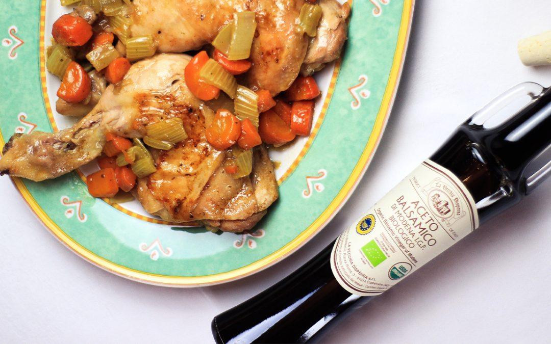 Pollo alle Verdure con Aceto Balsamico