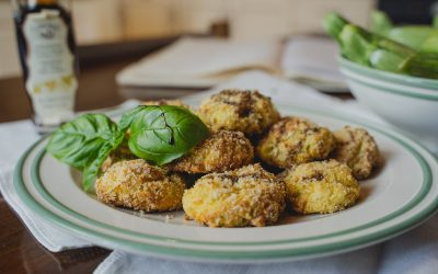 Zucchini Balls with Ricotta and Balsamic Vinegar