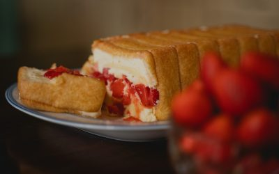 Aunt Maria's Strawberry Semifreddo