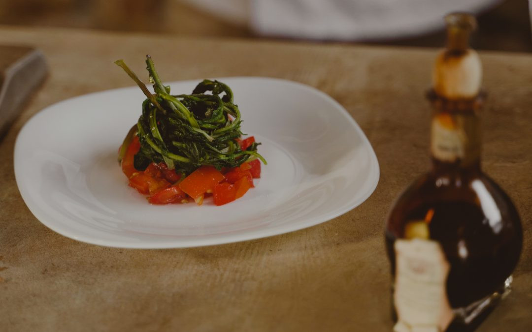 Tomato Tartare and Wild Chicory with Balsamic Vinegar
