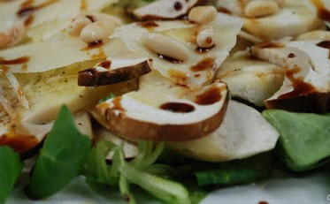 Porcini Mushrooms Salad with Balsamic Vinegar